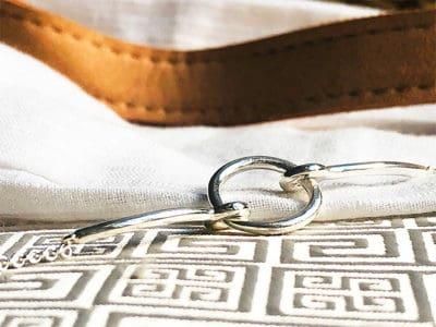 bracelet chaine cercle en argent sterling 925