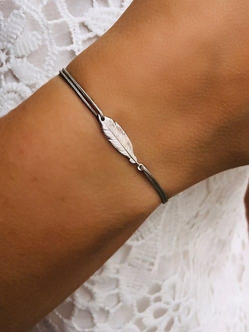 Bracelet cordon Plume 925grammes.com