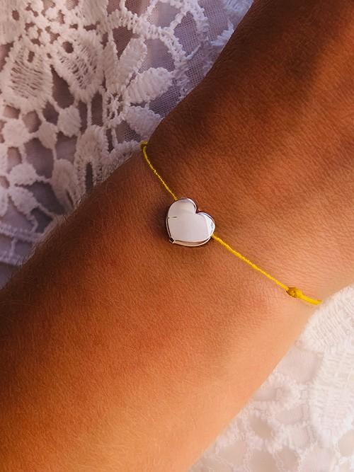 Bracelet cordon Coeur argent 925grammes.com