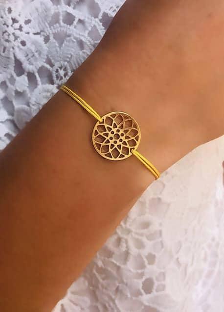 Bracelet cordon Mandala 925grammes.com
