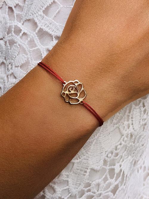 Bracelet cordon Rose 925grammes.com