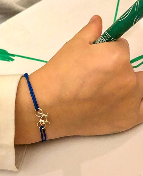 Bracelet cordon petite bicyclette Collection enfant 925 grammes