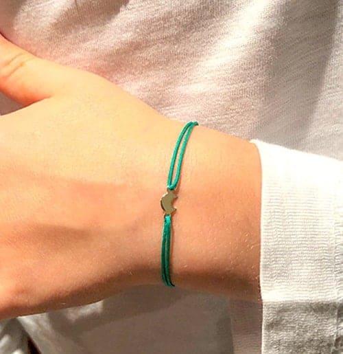 Bracelet cordon petite lune collection enfant 925 grammes