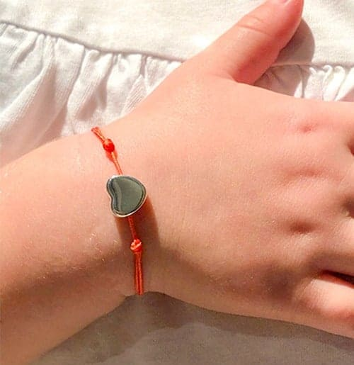 Bracelet cordon petit coeur Collection enfant 925 grammes