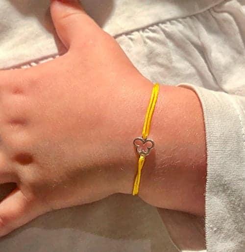 Bracelet cordon petit papillon collection enfant 925 grammes