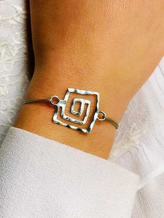Bracelet cordon Labyrinthe 925 grammes