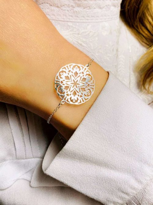 Bracelet chaîne Mandala 925 grammes