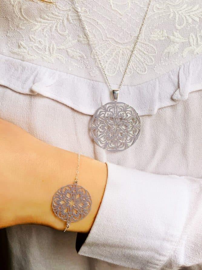 Collier chaîne Mandala 925 grammes