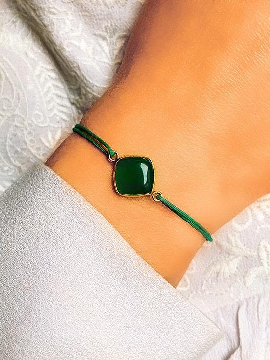 Bracelet cordon Pierre Losange 925 grammes