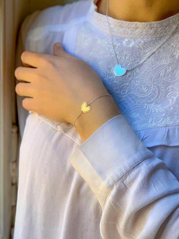 Bracelet Emma et Collier Jade 925 grammes bijoux en argent