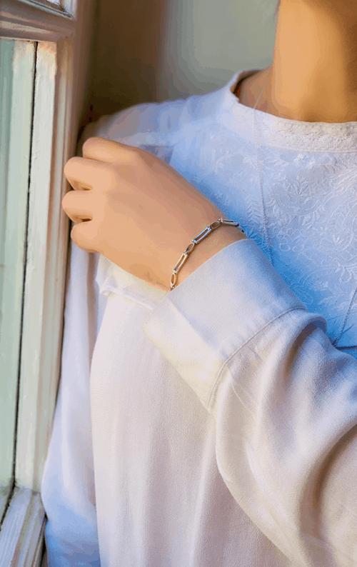 Bracelet Maillons Rectangle 925 grammes