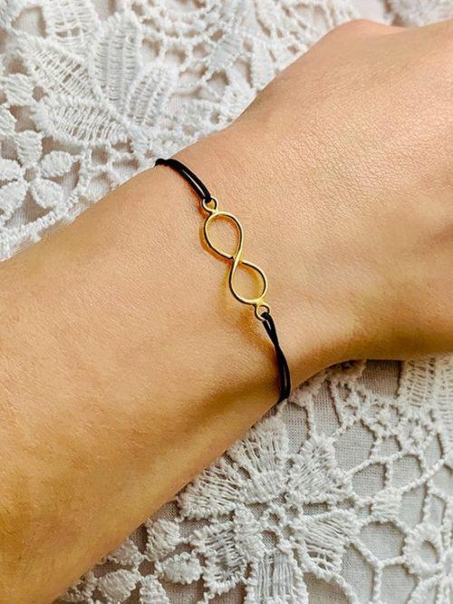 bracelet cordon infini plaque or 550x733 925grammes.com