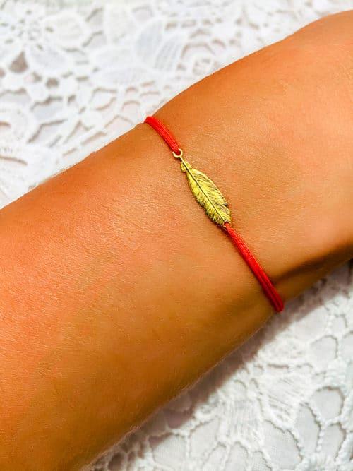 Bracelet-cordon-Plume-Doree-800x1067-925grammes.com